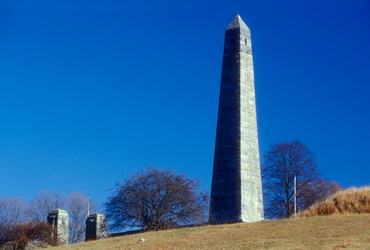 Low angle view of an obelisk, Groton Monument, Fort Griswold Battlefield State Park, Groton, Connecticut, USA : Stock Photo