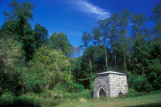 Stock Photo: 1596-1289 Ruins of a furnace, Kent Iron Furnace, Kent, Connecticut, USA