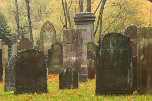 Graveyard, Memento Mori Cemetery, Farmington, Hartford County, Connecticut, USA : Stock Photo