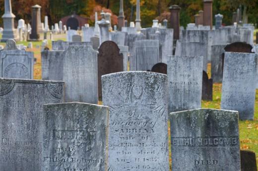 Graveyard, Elm Grove Cemetery, Windsor, Hartford County, Connecticut, USA : Stock Photo
