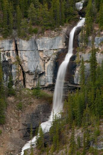Stock Photo: 1596-2665 Waterfall, Bridal Veil Falls, Banff National Park, Alberta, Canada