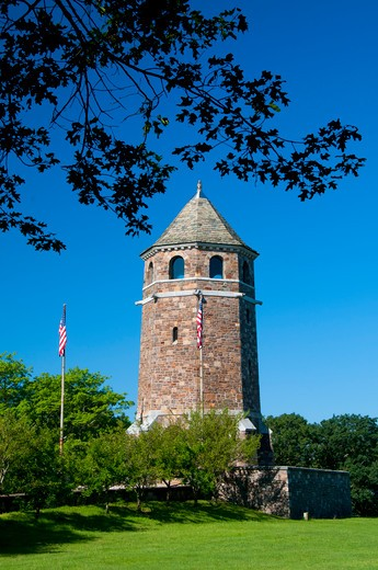Stock Photo: 1596-2831 USA, Connecticut, Rockville, Fox Hill Memorial Tower (Works Progress Administration) Henry Park