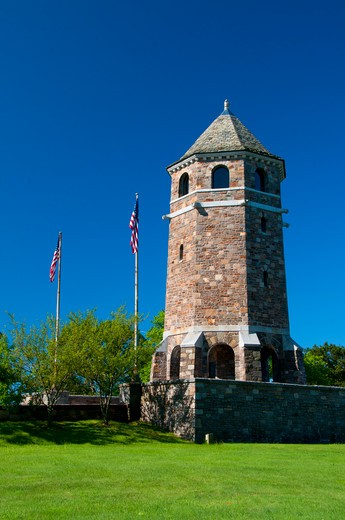 Stock Photo: 1596-2832 USA, Connecticut, Rockville, Fox Hill Memorial Tower (Works Progress Administration) Henry Park