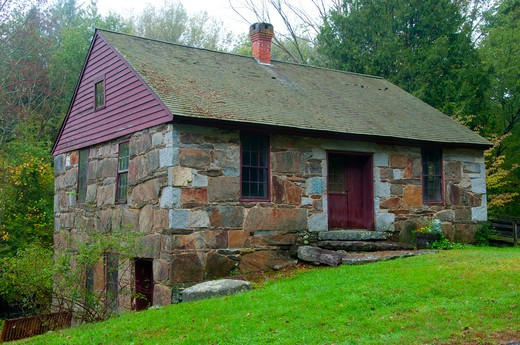 Stock Photo: 1596-2841 USA, Connecticut, Mansfield, Gurleyville Grist Mill