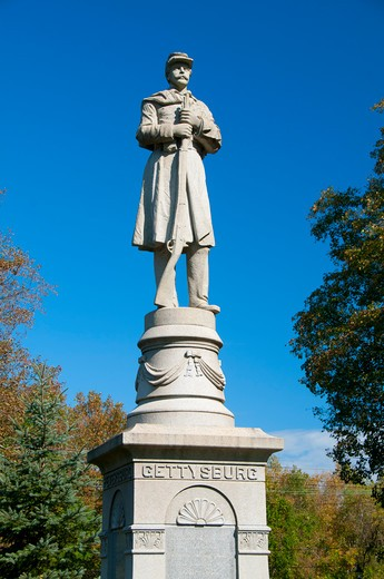 USA, Connecticut, Moodus, Soldier monument : Stock Photo