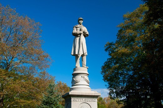 Stock Photo: 1596-2881 USA, Connecticut, Moodus, Soldier monument