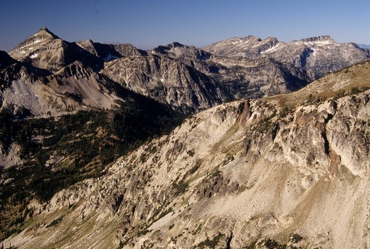 Stock Photo: 1596-3178 Mountain range, Wallowa Mountains, East Fork Eagle Creek, Eagle Cap Wilderness, Wallowa-Whitman National Forest, Oregon, USA