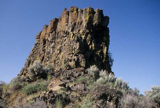 USA, Oregon, Lower Crooked River National Back Country Byway, Crooked Wild and Scenic River corridor, Chimney Rock : Stock Photo