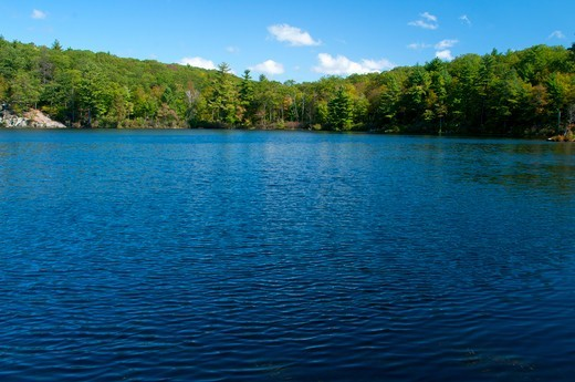Stock Photo: 1596-3449 USA, Connecticut, Mohawk State Forest, View of Mohawk Pond