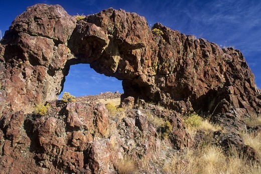 Stock Photo: 1596-3562 Natural arch, Succor Creek State Park, Oregon, USA