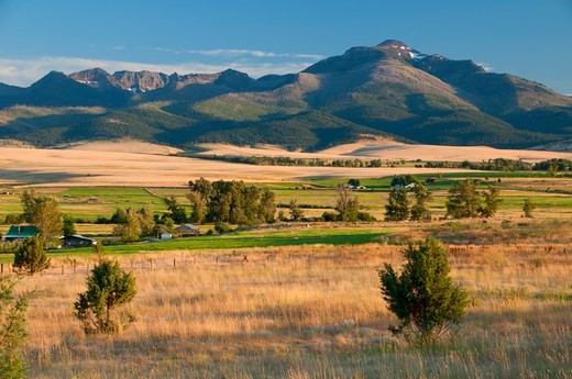 Stock Photo: 1596-3685 USA, Oregon, Grant County, Time National Scenic Byway, John Day Valley, Strawberry Mountains