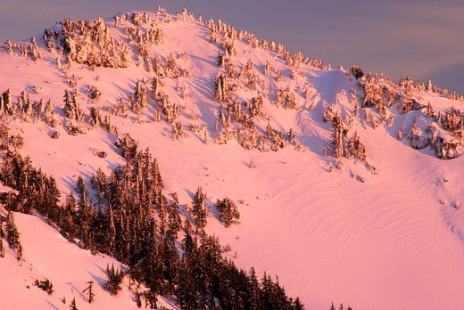 Stock Photo: 1596-3971 Garfield Peak in winter, Crater Lake National Park, Oregon, USA