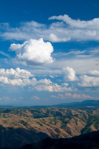 Hells Canyon from Hells Canyon Overlook, Hells Canyon National Recreation Area, Hells Canyon National Scenic Byway, Oregon, USA : Stock Photo
