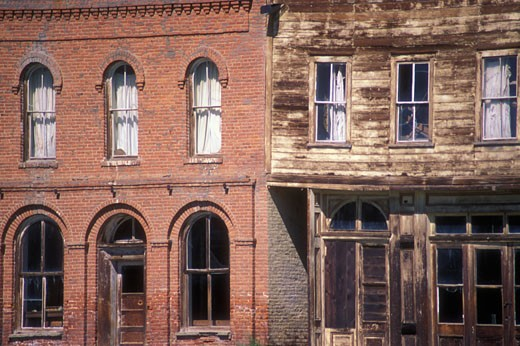 Facade of a hotel, Miners Union Hall, Bodie State Historic Park, California, USA : Stock Photo