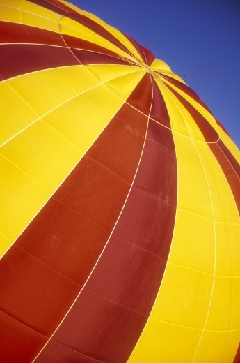 Close-up of a hot air balloon, The Great Prosser Balloon Rally, Prosser, Washington, USA : Stock Photo