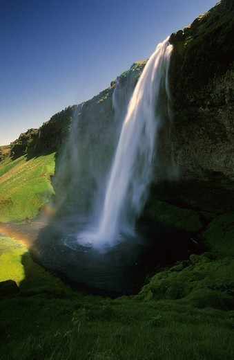 Seljalandsfoss, Iceland, landscape, scenery, water : Stock Photo