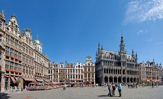 Stock Photo: 1597-104067 Belgium, Europe, Bruxelles, Brussels, La Grand Place, Grote market, UNESCO, world cultural heritage, city hall, place, tourist