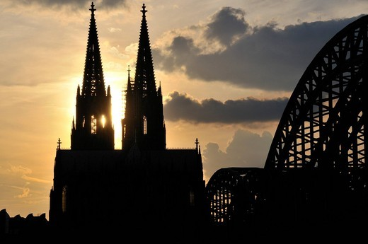 Dusk, evening mood, Christianity, Germany, cathedral, dome, Europe, cathedral, religion, UNESCO, world cultural heritage : Stock Photo