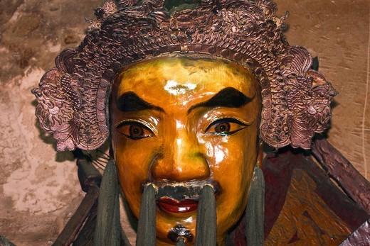 Holy figures, porcelain, jade pagoda, Ho Chi Minh town, city, Saigon, Vietnam, South_East Asia, Asia : Stock Photo