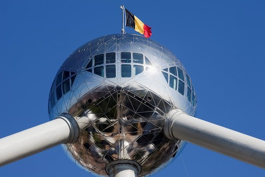 Europe, Belgium, Brussels, Bruxelles, Atomium, Tourism, Travel, Holiday, Vacation : Stock Photo