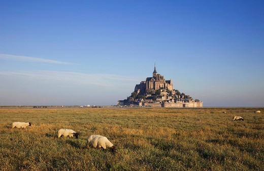 Stock Photo: 1597-106685 Europe, France, Normandy, Normandie, Mont St.Michel, Mont St Michel, Mont Saint Michel, UNESCO, UNESCO World Heritage Site, UNESCO World Heritage Sites, Tourism, Travel, Holiday, Vacation