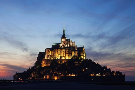 Stock Photo: 1597-106699 Europe, France, Normandy, Normandie, Mont St.Michel, Mont St Michel, Mont Saint Michel, UNESCO, UNESCO World Heritage Site, UNESCO World Heritage Sites, Tourism, Travel, Holiday, Vacation