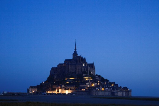 Europe, France, Normandy, Normandie, Mont St.Michel, Mont St Michel, Mont Saint Michel, UNESCO, UNESCO World Heritage Site, UNESCO World Heritage Sites, Tourism, Travel, Holiday, Vacation : Stock Photo