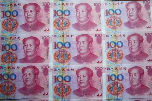 Asia, China, Chinese RMB, Chinese Renminbi, Chinese Money, Yuan, Currency, Currencies, Currency Exchange, Foreign Exchange, Finance, Money, Bank Notes, Tourism, Travel, Holiday, Vacation : Stock Photo