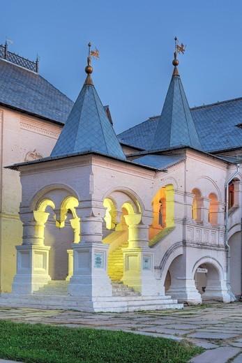 Rostov, Yaroslavl region, Russia, Golden ring, city, town, architecture, Russian, Rostov Kremlin, Europe, European, Eastern Europe, evening, night, nite, sunset, building, Summer, summertime, Travel : Stock Photo