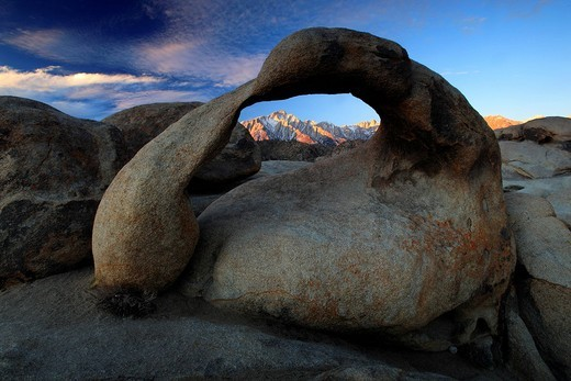 Stock Photo: 1597-109185 Mobius Arch, Lone Pine Peak, Mount Whitney, Lower,