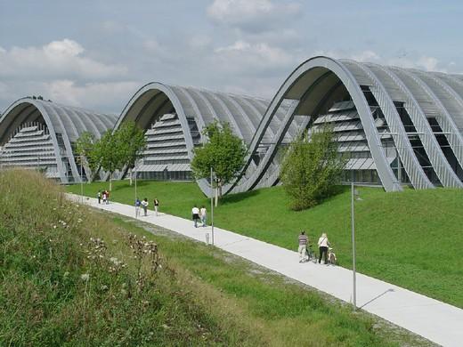 architect, architecture, art, Bern, Berne, buildings, center, constructions, culture, forms, Paul Klee Center, moder : Stock Photo