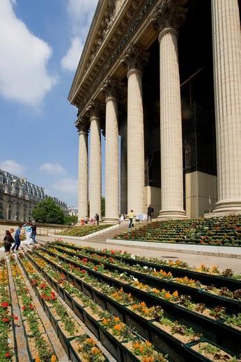 Stock Photo: 1597-110086 France, Europe, Paris, city, La Madeleine, church, building columns, temple, neoclassicism, classicism, architecture,