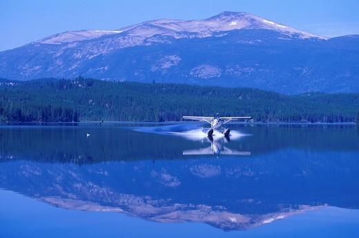 Canada, North America, America, Bush Plane, Clearwater lake, Chilcotin Country, Rocky Mountains, British Columbia, aer : Stock Photo