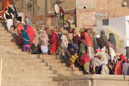 Stock Photo: 1597-111628 India, Varanasi, Hindu holy city, Ganges, Ganga, travel, trip, Asia, asian, Benares, Benaras, Banaras, Hindu, hinduism