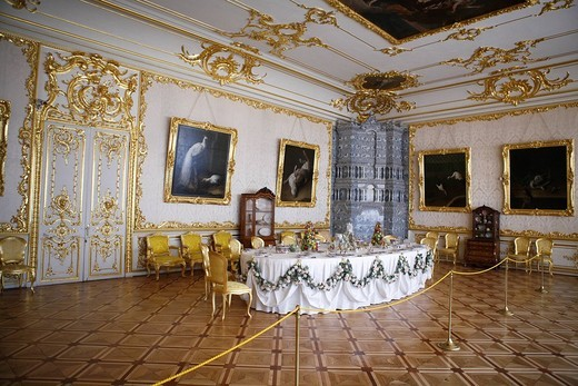 Stock Photo: 1597-112082 Catherine Palace, Pushkin, Saint Petersburg, Russia, Europe, Russian, Indoor, architecture, interior, museum, ornate,