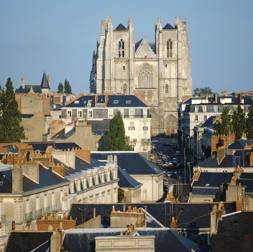 Stock Photo: 1597-112204  Brittany, France, Europe, cathedral, Nantes, St. Pierre et St Paul,