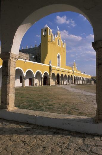 Antonio, Convento de San Antonio de Padua, Izamal, Mexico, Central America, America, Yucatan, : Stock Photo