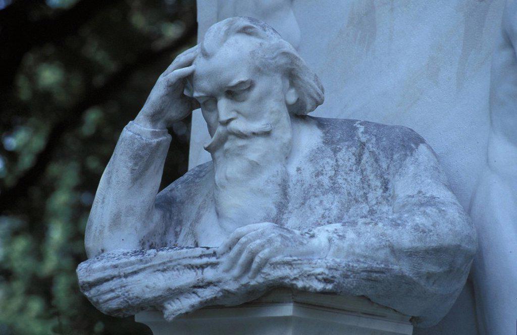 Stock Photo: 1597-114868 Austria, Europe, Zentralfriedhof, Johannes Brahms, Vienna, Gravestone, Cemetery, Ehrengraber, grave, memorial, culture