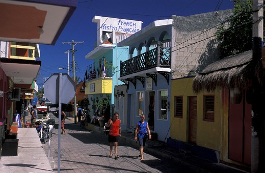 Isla Mujeres, Mexico, Central America, America, Mujeres, Quintana Roo, Townsite, : Stock Photo