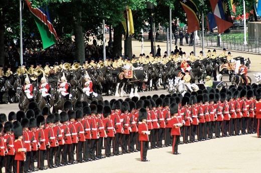 Stock Photo: 1597-120802 England, Europe, London, Changing of the Guard, Changing of the Guards, Trooping of the Colour, Trooping of the Color,