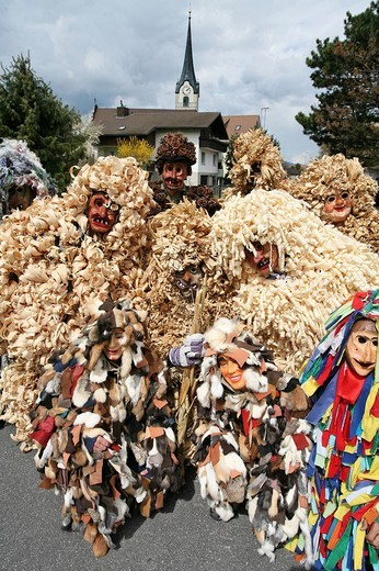 Stock Photo: 1597-122923 Switzerland, Europe, Oberriet village, town, Oberriet, canton St. Gallen, Easter tradition, Easter monday, Eierlesefes
