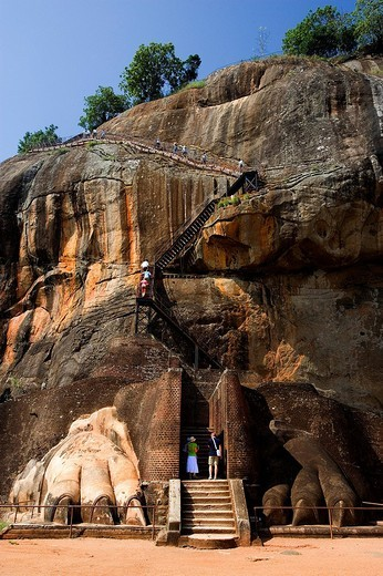 Sri Lanka, Asia, Sigiriya City, Ancient Cities, UNESCO, World heritage site, rock fortress, historic, culture, history : Stock Photo