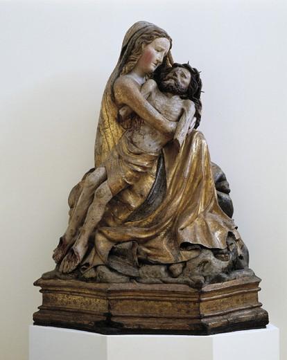 Stock Photo: 1597-124108 Pieta from Unna, Maria Magdalena, religious art, skill, Christ, Jesus Nazareth, museum, Westfalisches Landesmuseum, mi