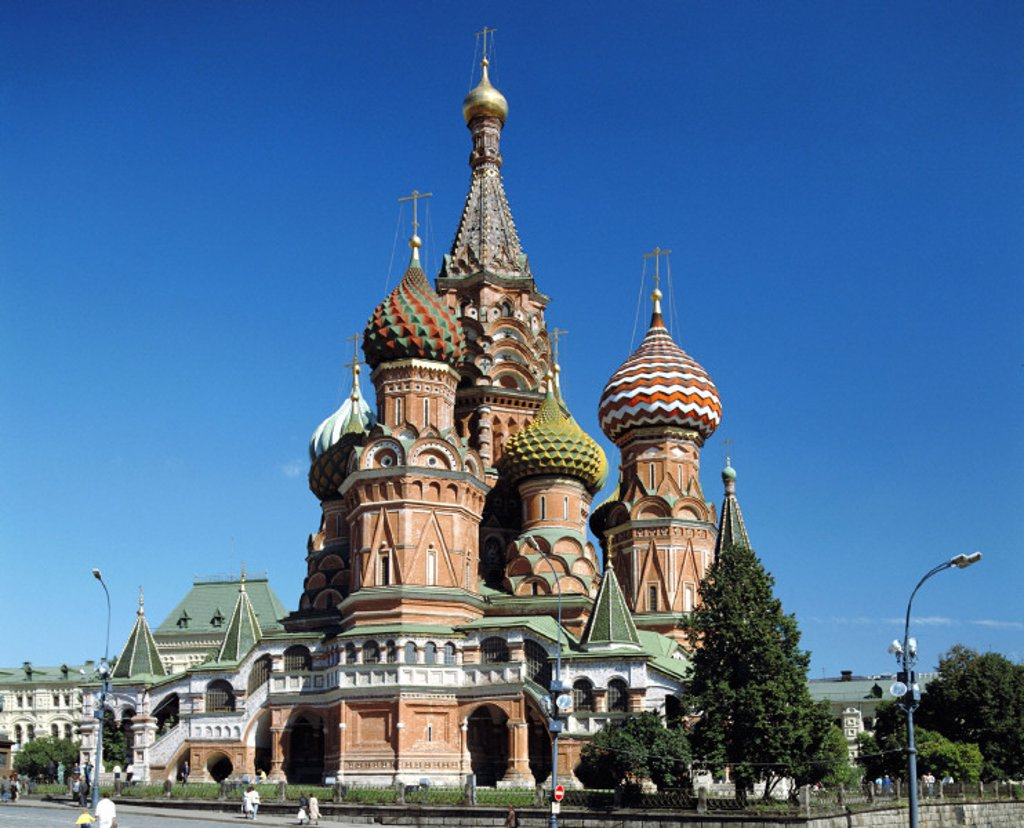 Stock Photo: 1597-124425  Basil, cathedral, church, Kremlin, Moscow, Russia, landmark, traveling,