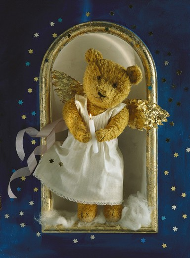 Angel, Arrangement, Bear, Candle, Christmas, Christmassy, Decorated, Decoration, Festive, Life, X_Mas, Saison, Still : Stock Photo