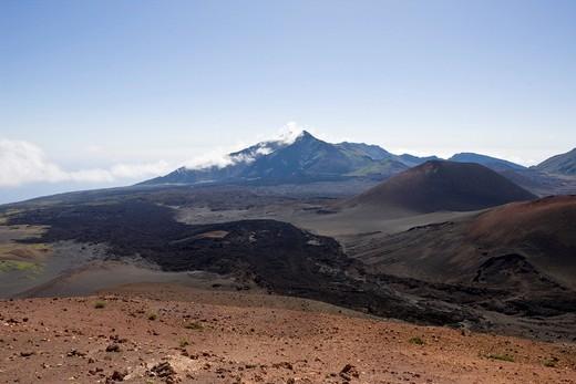 Crater, Haleakala Volcano, Hawaii, USA, Maui, Isla : Stock Photo