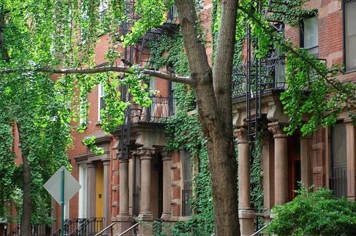 Stock Photo: 1597-125302 USA, America, United States, North America, New York, Grove Street, Greenwich Village, Manhattan, residential quarter,