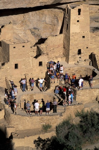 Cliff Palace, Mesa Verde, national park, Colorado, USA, America, North America, Indians, Native Americans, village, ab : Stock Photo