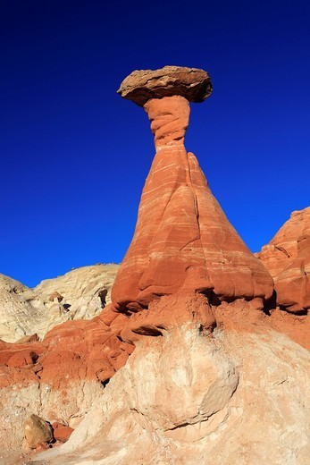 Stock Photo: 1597-126198 Toadstool Hoodoo, Sandstone, Grand Staircase Escal