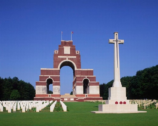 cemetery, France, Europe, graves, gravestones, military cemetery, monument, Picardy, Somme, First World War, militar : Stock Photo
